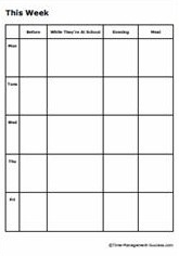 Morning routine planning and checklist printables