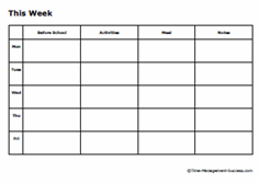free printable weekly planners for work and home